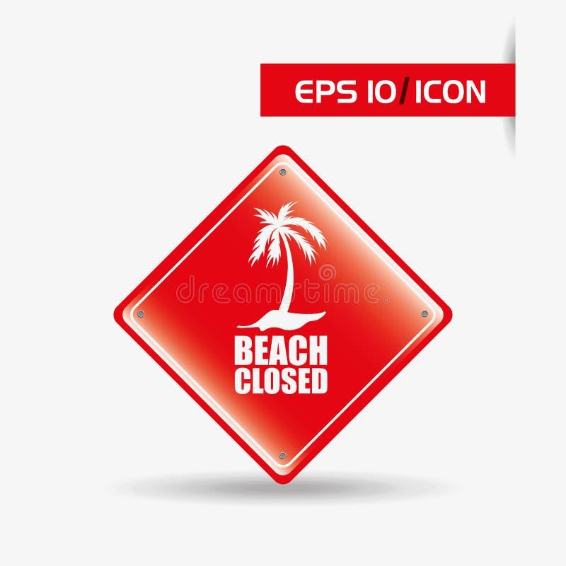 海滩构思设计 向量例证