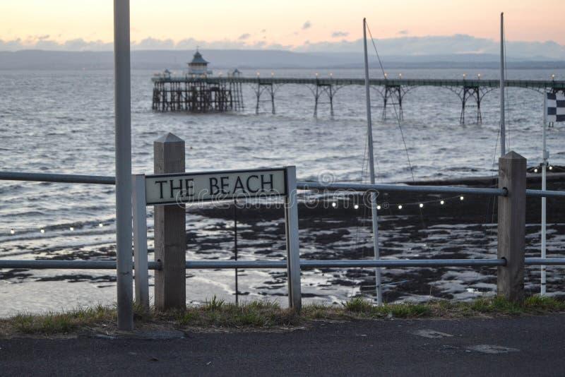 海滩标志 免版税图库摄影
