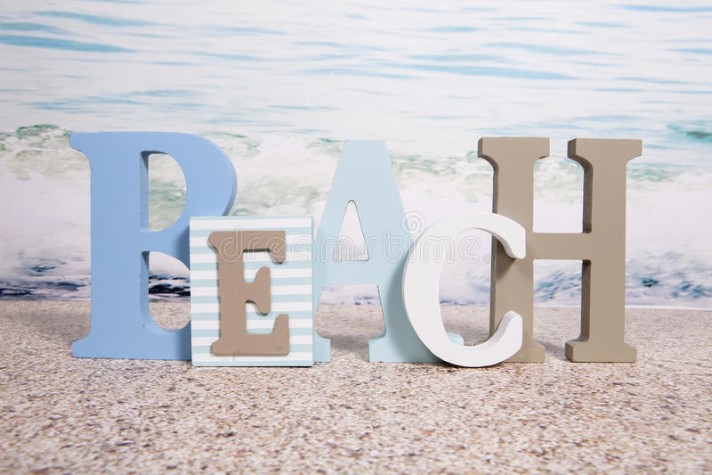海滩标志 免版税库存照片