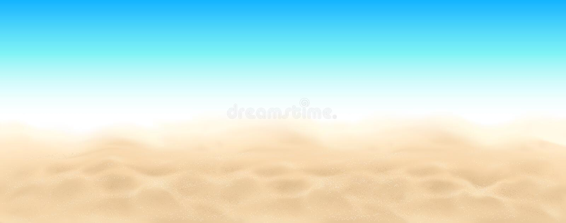 海滩沙子和天空传染媒介风景背景 向量例证