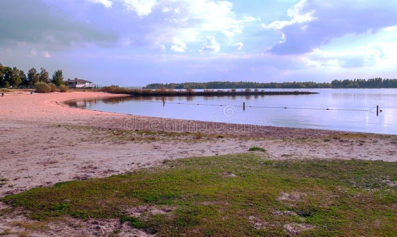 海滩沙子在荷兰 免版税库存图片