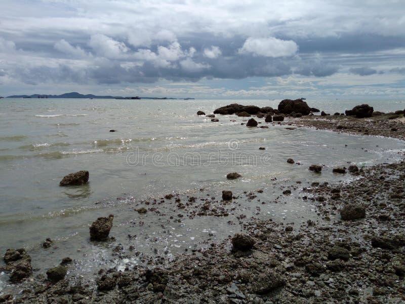 海滩海景 免版税库存照片