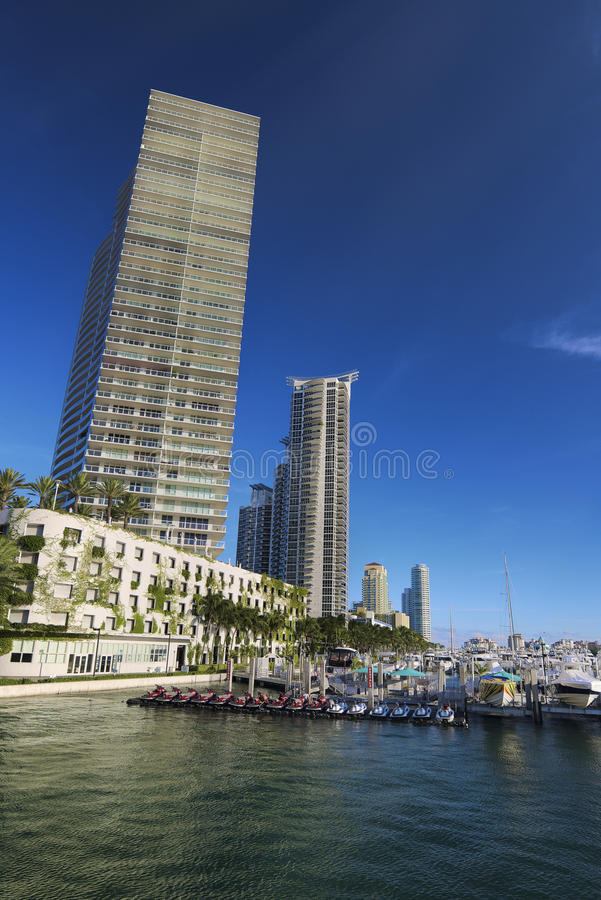 海滩海滨广场迈阿密 库存照片