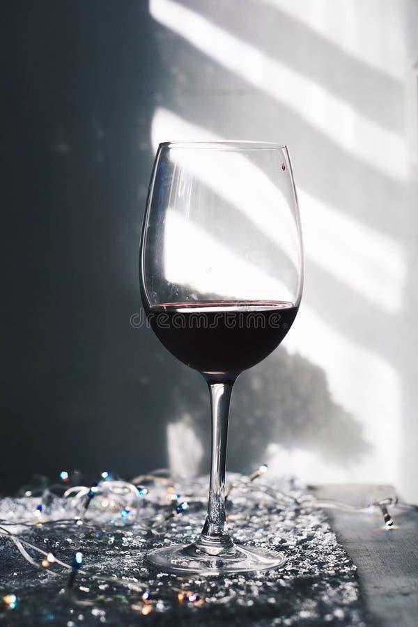 海滩玻璃午餐酒 免版税图库摄影