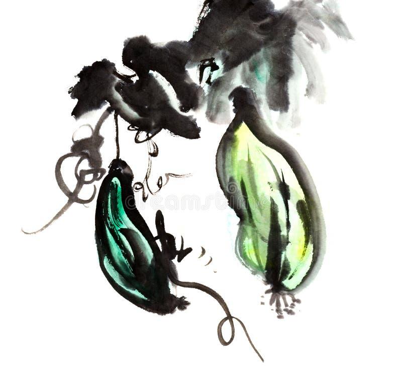 Download 海绵黄瓜 库存例证. 插画 包括有 墨水, 脚本, 日本, 例证, 图画, 创造性, 织地不很细, 书法 - 30336230