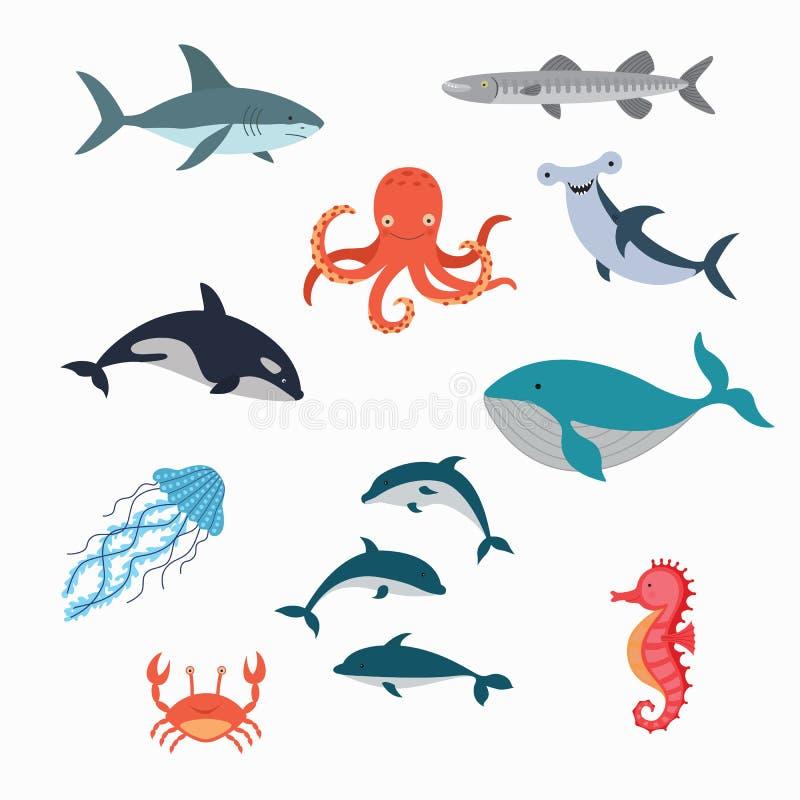 海洋生物传染媒介设计例证 向量例证