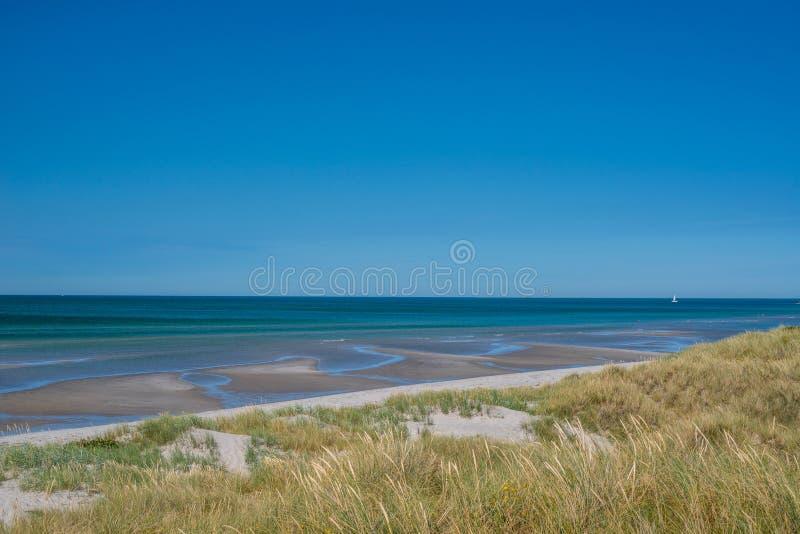 海滩用低潮水 库存照片