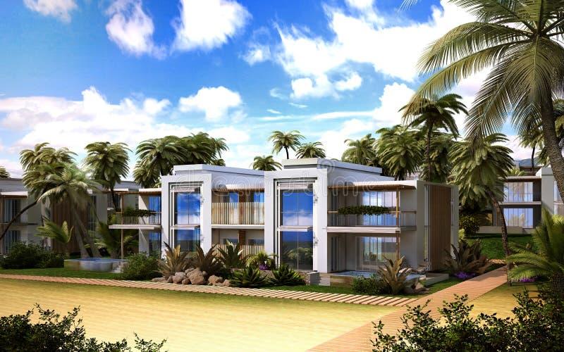 海滩的公寓