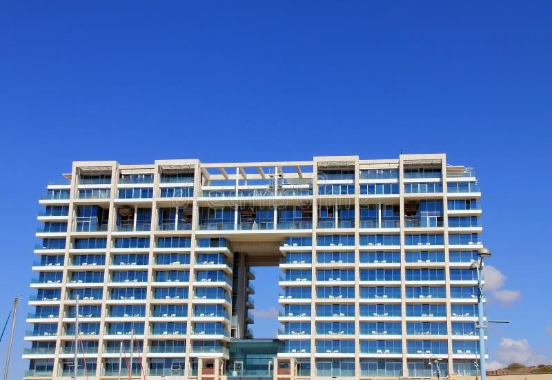 海滩的新的旅馆 库存图片