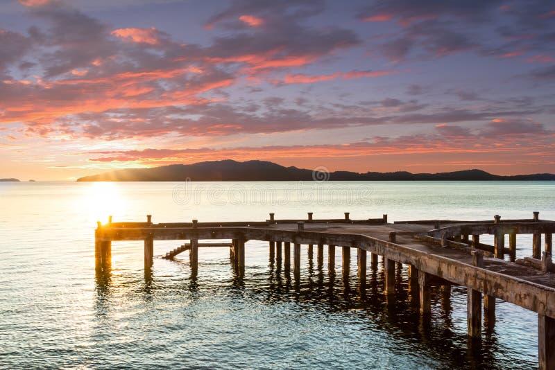 海滩的木板走道 免版税库存图片