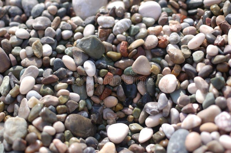 海滩的Peebles 图库摄影