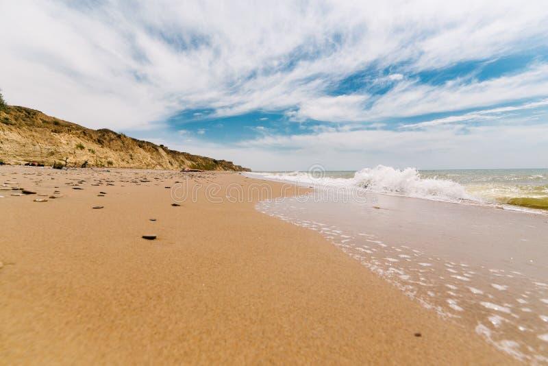 海滩秀丽 免版税库存图片
