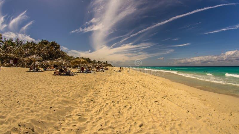 海滩肘在特立尼达,古巴 免版税库存照片