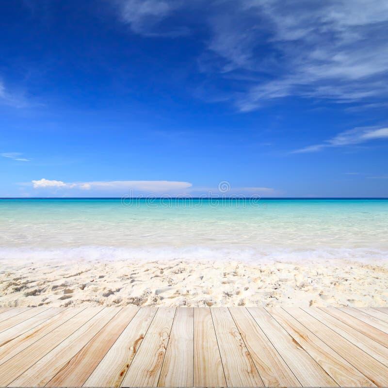海滩背景 图库摄影