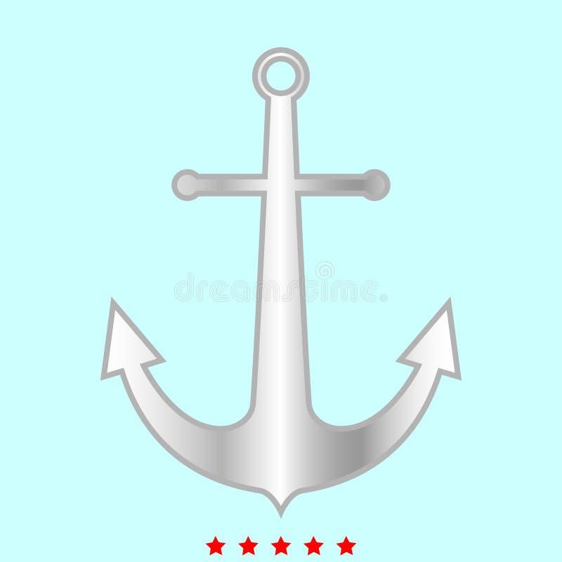 海洋船锚它是颜色象 库存例证
