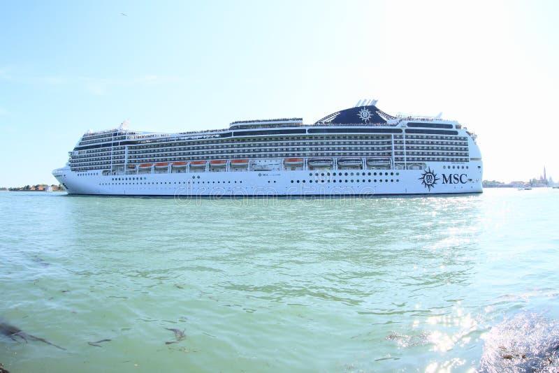 海洋船MSC Magnifica 库存照片