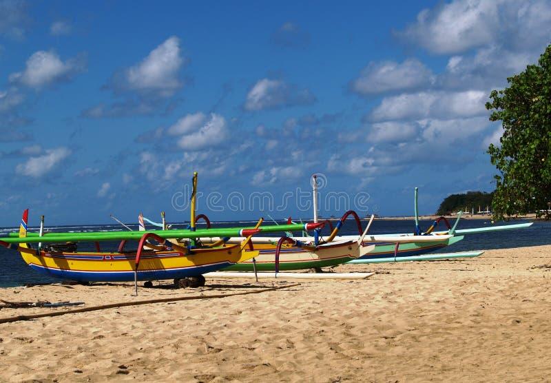 海滩萨努尔巴厘岛 库存照片