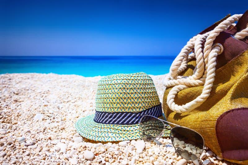 海滩袋子 免版税图库摄影