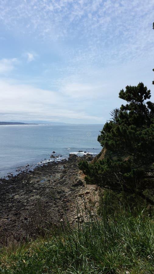 海滩观点 免版税库存图片