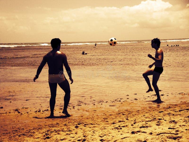 海滩足球 库存图片