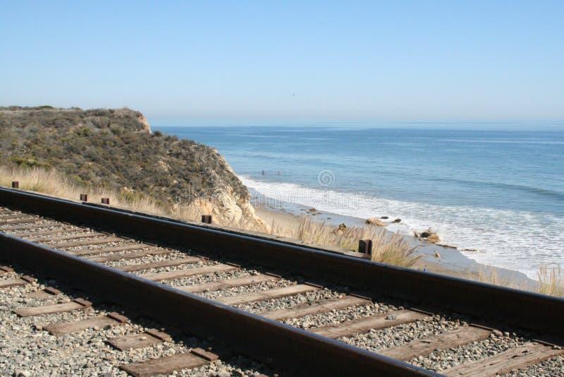 海滩铁路 免版税库存照片