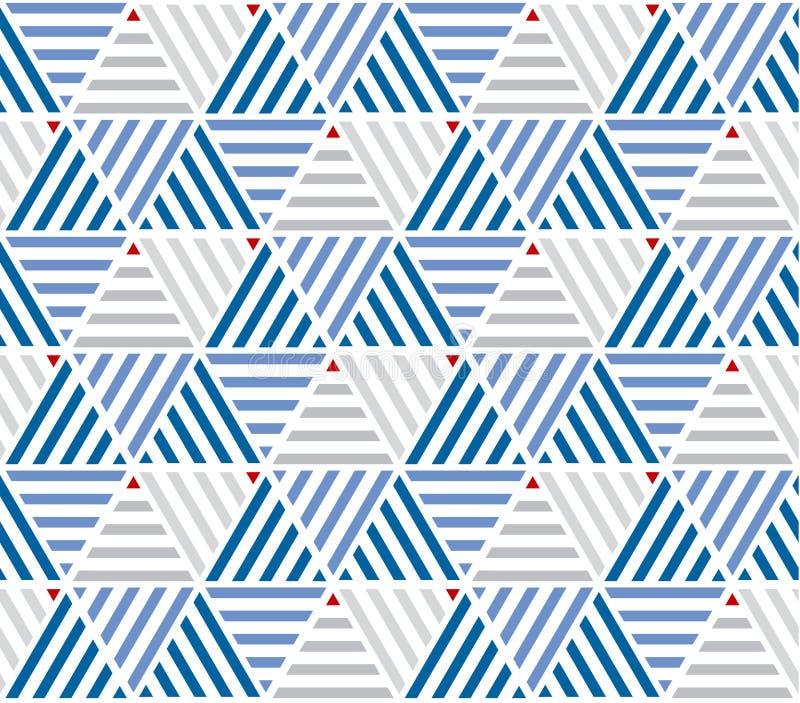海洋颜色镶边无缝的样式 库存例证