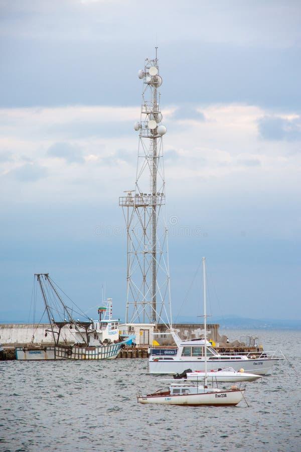 海洋风帆在波摩莱求婚驻地 免版税库存照片