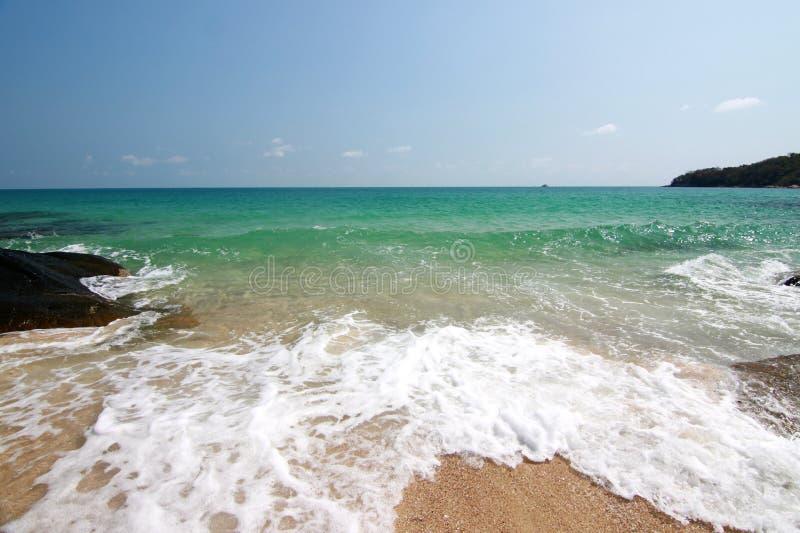 海滩,酸值samet泰国 库存照片