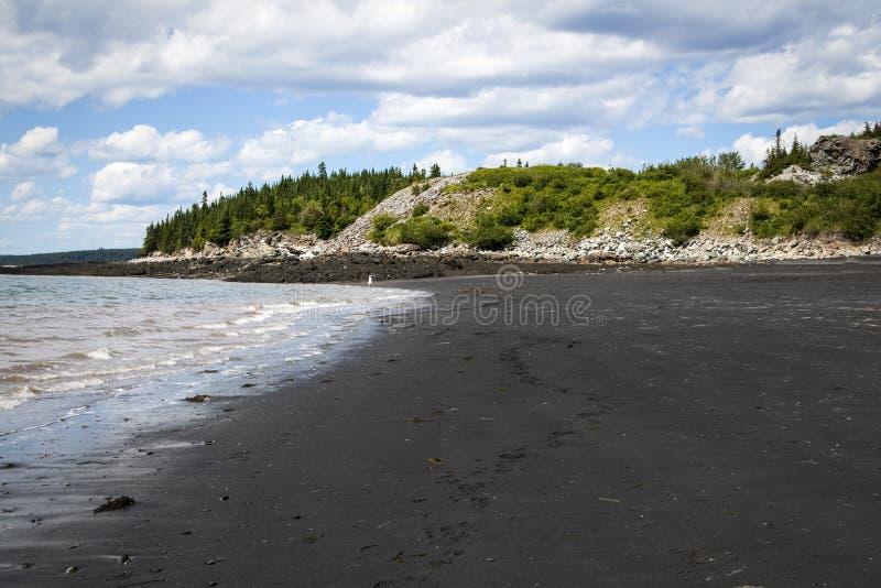 黑海滩, Lorneville,新不伦瑞克,加拿大大西洋省份的 库存图片