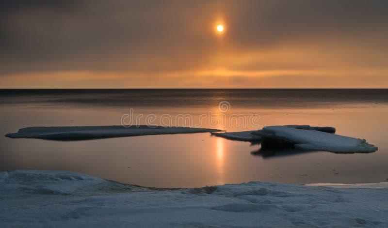 冻海 免版税库存照片