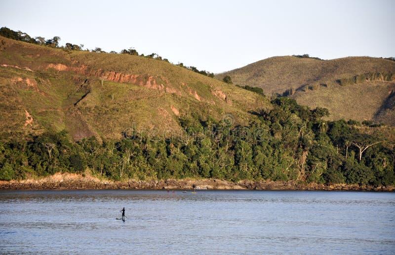 海滩Bertioga (巴西) 免版税图库摄影