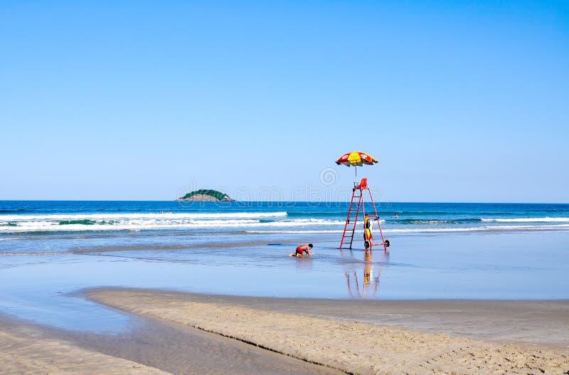 海滩Bertioga (巴西) 图库摄影