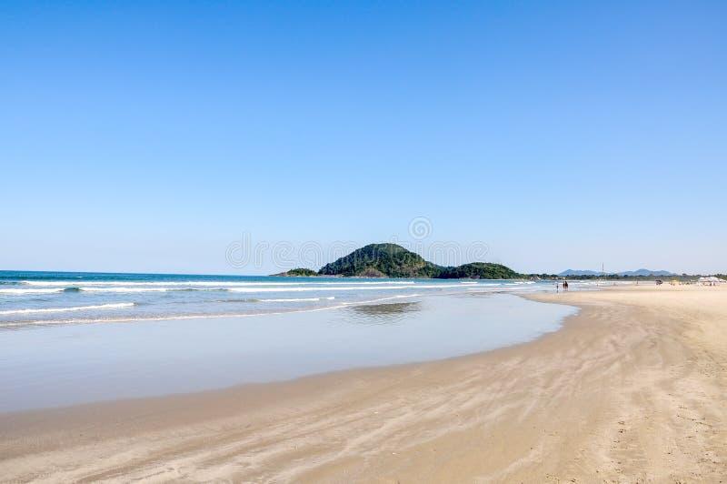 海滩Bertioga (巴西) 免版税库存图片