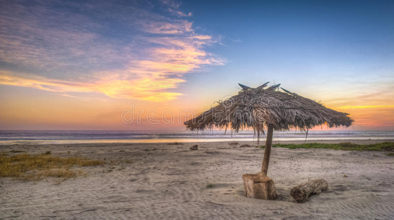 海滩Costa del Sol 免版税库存照片