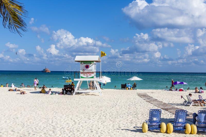 海滨del卡门墨西哥海滩 库存照片