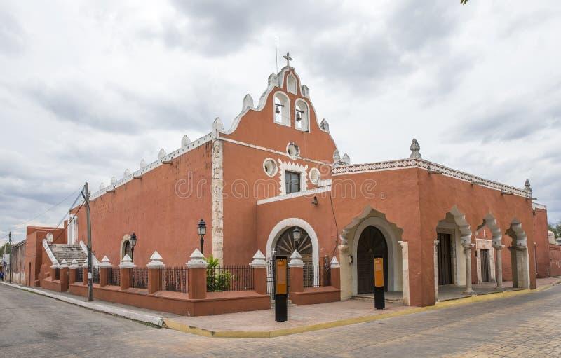 海滨del卡门教会在巴里阿多里德,墨西哥 免版税图库摄影