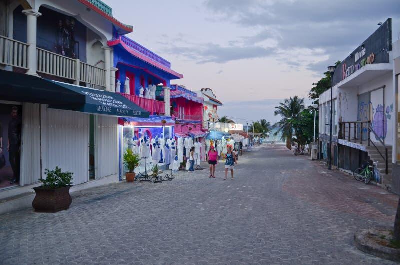 海滨del卡门,墨西哥 图库摄影
