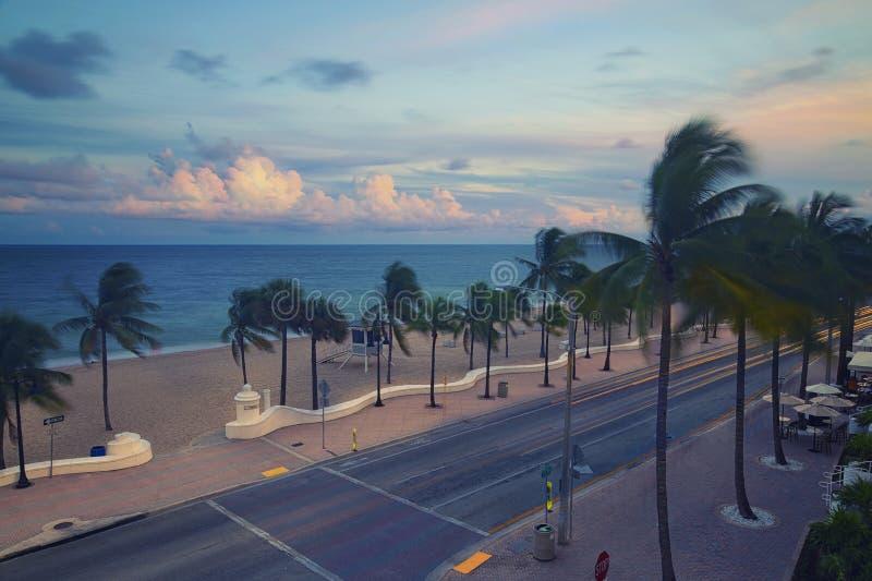 海滩Fort Lauderdale 免版税图库摄影