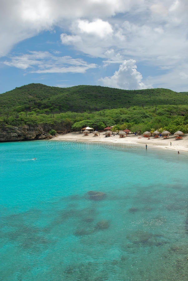 海滩knip库拉索岛 库存图片