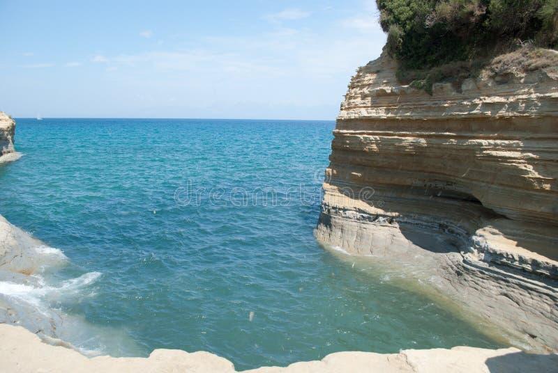 海滩Sidari 免版税图库摄影