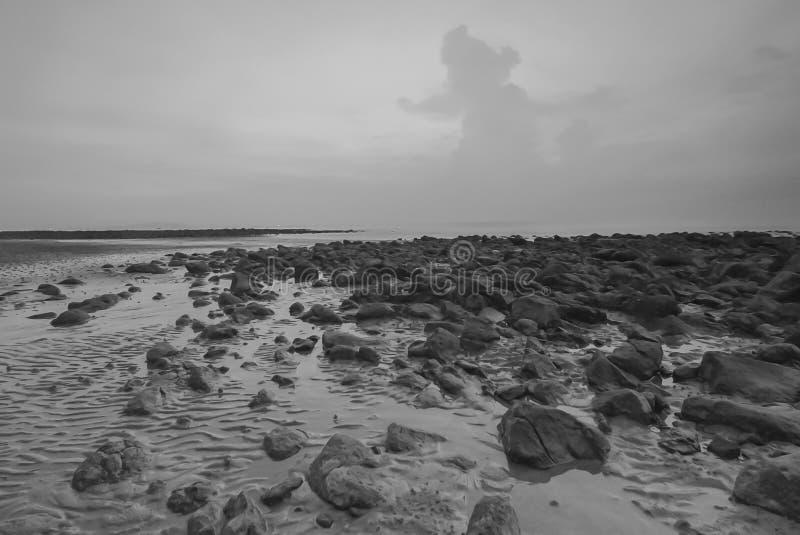 海滩Snenic视图在巴厘岛 免版税图库摄影