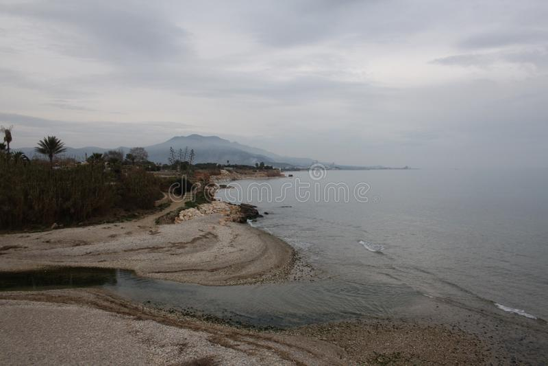 海滩Vinaros Spian 库存照片
