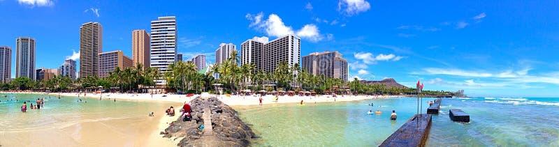 海滩waikiki 库存图片