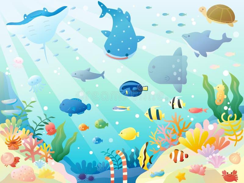 海animals3 向量例证