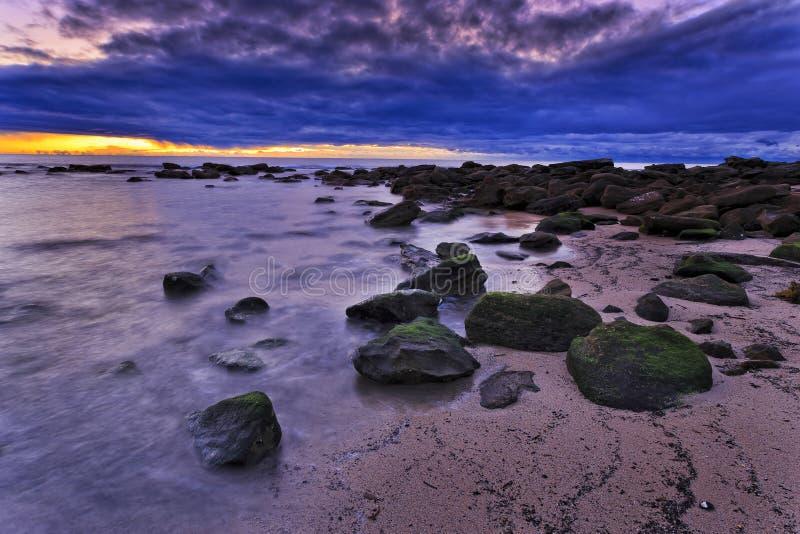 海Maroubra海滩4sec 免版税库存图片