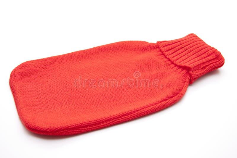 涂上的红色羊毛 图库摄影