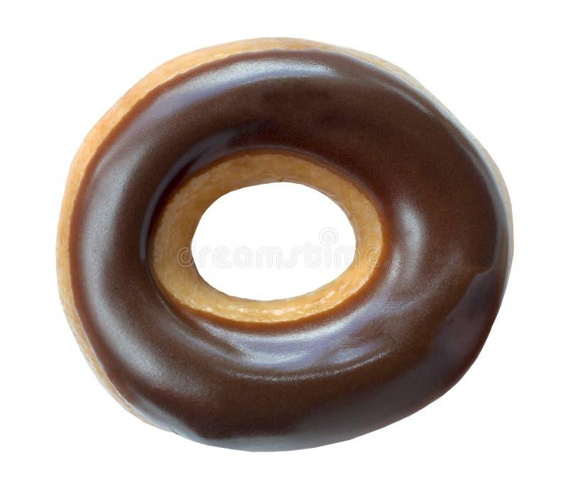 涂了巧克力的圆环多福饼 库存图片