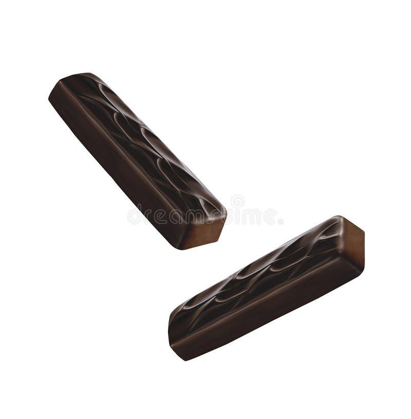 涂了巧克力的棒 库存图片