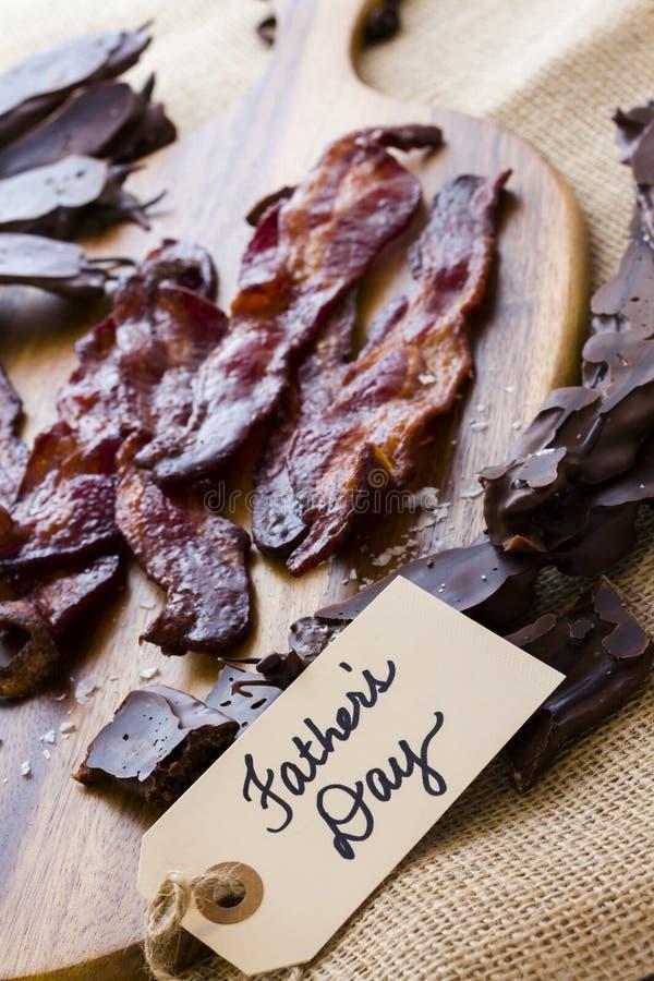 涂了巧克力的烟肉 免版税库存照片