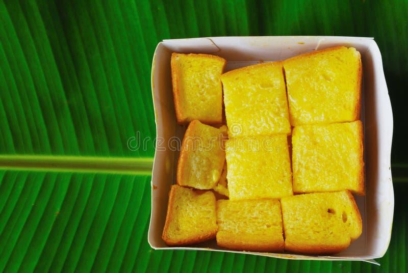 涂奶油的面包 免版税库存图片